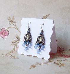 20 DECO  2.5x2.5 inch Tent Cards EARRING CARDS by JulryPartZ, $5.50