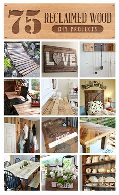 DIY:: #75 Sensational Reclaimed Wood Frugal Farmhouse Decor Projects Ok now where do I find the damn reclaimed wood an the time to reclaim it?!?!?!