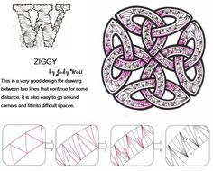 Ziggy. Tangle Pattern by Judy West / Creative Doodling with Judy West.
