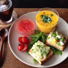 朝ごはん。breakfast.#homemade #ワンプレート