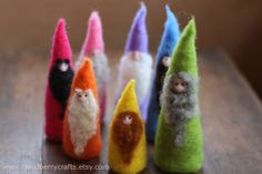 ~WJoyDesigns~ My GIANT rainbow candle square pilar candle in citrus sage scent has been featured here In this super vibrant rainbow inspired collection! - Rainbow Connection by Pamela Merriam on Etsy Waldorf Crafts, Waldorf Dolls, Doll Crafts, Fun Crafts, Worry Dolls, Felt Fairy, Felt Embroidery, Felt Christmas, Needle Felting