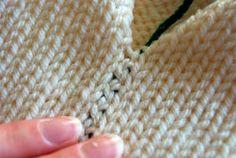 Bickford Stitch - invisible vertical flat seam