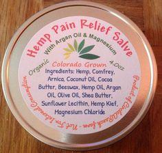 Hemp Pain Relief Salve with Argan Oil, Comfrey, Arnica and Magnesium