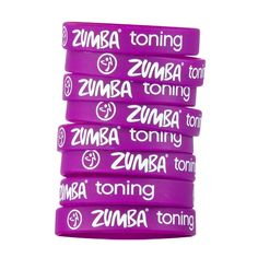 ZUMBA TONING RUBBER BRACELETS Wear all ZUMBA TONING RUBBER BRACELETS, or mix and match if you are specialized in several things, either way, the colors will make you stand out for sure! Finally a fun give away, or just a way to say loud and proud what your specialties are.