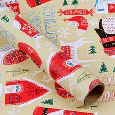 Hand-drawn Christmas roll wrapping paper - by Faye Buckingham! Nordic Christmas, Very Merry Christmas, Christmas Design, Christmas Holidays, Xmas, Christmas 2019, Happy Holidays, Christmas Ideas, Christmas Crafts