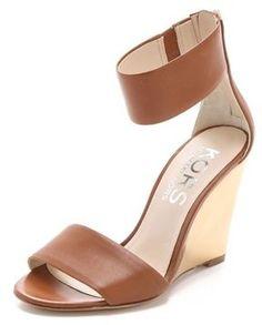 5b83f7d27742 KORS Rosalie Wedge Sandals - ShopStyle