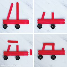 how to make the truck ornament christmas ornaments for kids DIY Car and Truck Popsicle Stick Christmas Ornaments - Fun Loving Families Kids Christmas Ornaments, Preschool Christmas, Christmas Activities, Christmas Projects, Christmas Fun, Holiday Crafts, Christmas Decorations, Christmas Crafts With Kids, Spring Crafts
