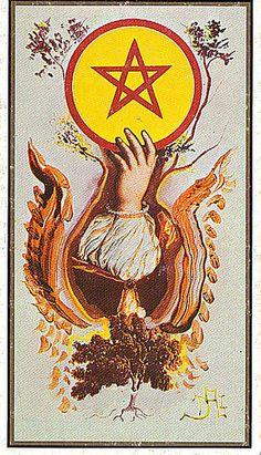 Card from Salvador Dali's Tarot Deck.