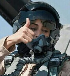 UAE F16 pilot Maj Mariam. In her country women are not allowed to drive vehicles.
