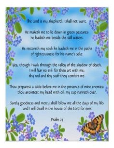 The Lord Is My Shepard, Psalm 25