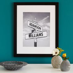Intersection of Love - Photo Print | pop art, street sign, personalized, couples | UncommonGoods