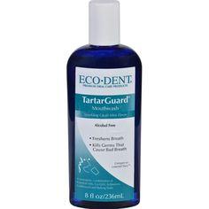 Eco Dent Mouthwash Premium Oral Care Tartarguard 8 Oz