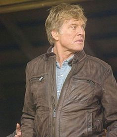 Nick Sloan The Company You Keep Black Leather Jacket  Jacket Specification   External: leather Internal: polyester Celebrity: Robert Redford Movie: The Company You Keep Front: full zipper Pockets: four pockets up front Sleeves: extra-long full sleeves Collar: short and rounded