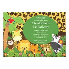 120 best safari birthday invitations images on pinterest birthday cute safari jungle birthday party invitations filmwisefo