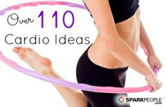 Can t think of what workout you can to do Here are plenty of fun ideas to choose from-just pick one - via SparkPeople fitness exercise Tabata Training, Excercise, Exercise Cardio, Cardio Workouts, Cardio Circuits, Cardio Routine, Physical Exercise, Workout Exercises, I Work Out