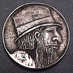 Mike Pezak Hobo Nickel, Art Forms, Sculpture Art, Buffalo, Coins, Carving, Rooms, Wood Carvings, Sculptures