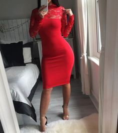 Shop Women's Red size Various Midi at a discounted price at Poshmark. Description: Designed to enhance every figure Romantic lace Feminine style Two button fastening at back Keyhole desig. Romantic Lace, Red Lace, Feminine Style, Selena, Lady In Red, Bodycon Dress, Stuff To Buy, Things To Sell, Design