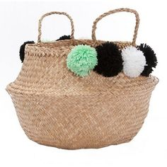 Pom Poms are a MUST in your home, did you know that!? Search 'Pom Pom Belly basket' on dtll.com.au or click on the shopable link in our profile. #dtll #downthatlittlelane