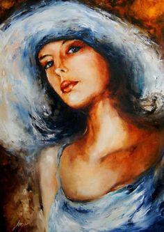 Elżbieta Brożek- | Elżbieta Brożek 1979 | Polish Realist / Symbolist painter-- Brożek is a polish painter who works mainly a portrait of womeN.