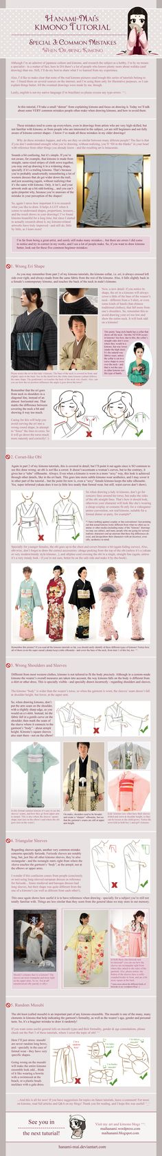 Kimono Tutorial - Drawing Mistakes Special by Hanami-Mai
