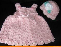 Free Baby Girl Crochet Dress   Babies Frocks, Hand Made Woven Dress Designs for Babies » Dress ...