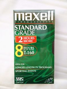 New Maxell Standard T-160 VHS Blank Tape Video Cassettes 8 Hours EP Mode in Consumer Electronics, TV, Video & Home Audio, TV, Video & Audio Accessories | eBay