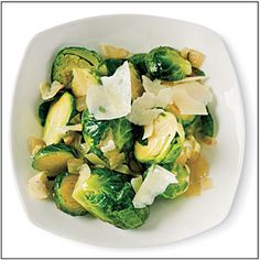 Sautéed Brussels Sprouts with Garlic and Pecorino, Cooking Light 3/2011 pg. 44