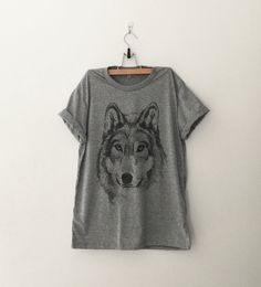 Wolf Shirt animal Graphic Tee Women T-shirt Tumblr by CozyGal