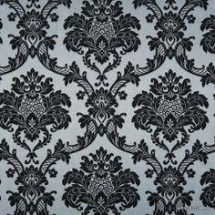 Papel de Parede Decoração Adamascado Outlet Origini, pronta entrega, estoque limitado, importado, lavável, rolos de 10m x53cm, superfície textura de tecido, tons de cinza e preto