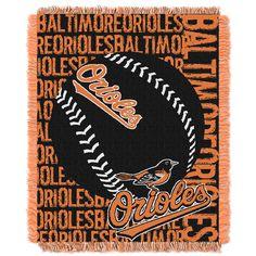 Baltimore Orioles MLB Triple Woven Jacquard Throw Double Play 48x60