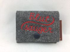 Weiteres - Tampontäschchen aus Wollfilz - Blutsauger - ein Designerstück von Hermers-Design bei DaWanda