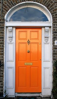 I think I'm going to paint my front door orange.  Such a happy color!