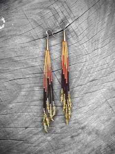 Long Seed Bead Earrings