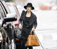 prada knockoff bags - Salma Hayek carries a Balenciaga Tube Bag   Celeb Bags   Pinterest ...
