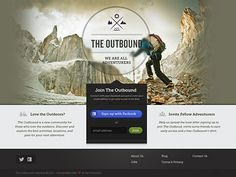 Outbound Dribbble designed by Jeremiah Shaw. Connect with them on Dribbble; Simple Web Design, Love Design, Web Design Trends, Web Design Inspiration, Sign Up Page, Splash Page, New Community, Application Design, Travel Design