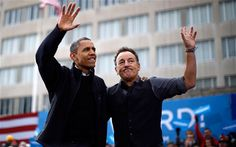 November 5, 2012: Bruce Springsteen performs during an election campaign rally for US President Barack Obama in Madison, Wisconsin