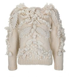 Designer:  Alexander McQueen  |  Designer Christmas Jumper Day – Save The Children 2013 : 14 British designers including Alexander McQueen, Burberry and Mary Katrantzou have customized identical jumpers (hand-knitted by fashion brand Wool and the Gang) in their own unique style to raise money for Save The Children.  |  via:  patternbank.com