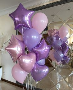 Ideas Baby Shower Ides For Girls Decorations Purple To Get Happy Birthday Parties, Unicorn Birthday Parties, Birthday Balloons, Unicorn Party, Tulle Balloons, Custom Balloons, Kids Party Decorations, Balloon Decorations, Ballon Arrangement