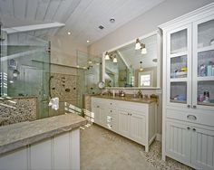 Eclectic Traditional Kitchen Cabinet Design, Pictures, Remodel, Decor and Ideas - page 13  Rocks for tile