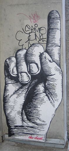 Amazing street art - love the details on the hand, don't you? www.streets-united.com