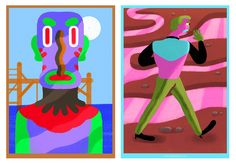 www.lilidesbellons.com Character design   colors http://www.behance.net/lilidesbellons