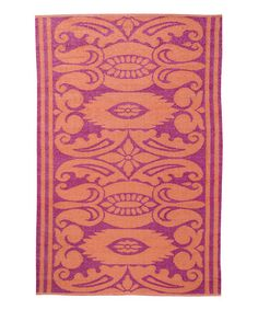 Love this Mauve & Rust Reversible India Rug on #zulily! #zulilyfinds