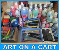 art classroom, art secret, k5 art, cart suppli, organizations