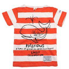OFFICIAL TEAM(オフィシャルチーム):PRINTED THICK Border Tシャツ レッド の通販【ブランド子供服のミリバール】