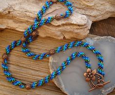 Spiral Weave Beaded Rope Necklace by sewartzee, $29.00