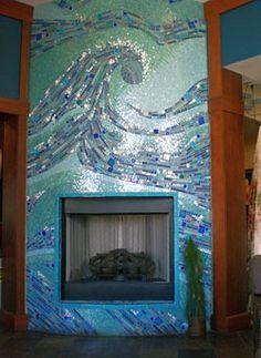Wave tile mosaic.