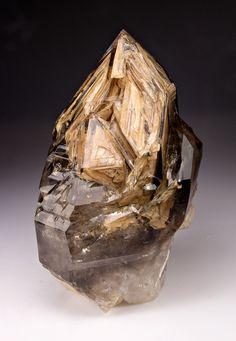 mineralists:  Smoky Elestial Quartz Goboboseb Mountains, Namibia