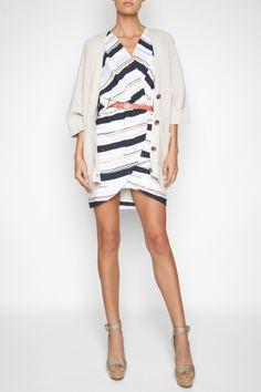 BCBGeneration Blouson Wrap Dress...LOVE this outfit!