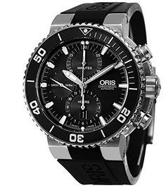Shop for Oris Men's 'Aquis' Black Dial Black Rubber Strap Automatic Chronograph Watch. Get free delivery On EVERYTHING* Overstock - Your Online Watches Store! Oris Aquis, Rubber Watches, Online Watch Store, Watch Sale, Black Rubber, Watches For Men, Wrist Watches, Omega Watch, Chronograph