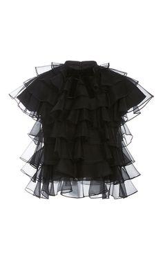 Black Bon Bon Ruffled Top by Macgraw | Moda Operandi